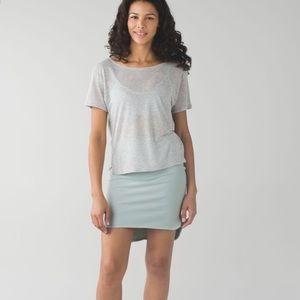 lululemon City Skirt in Minty Grey
